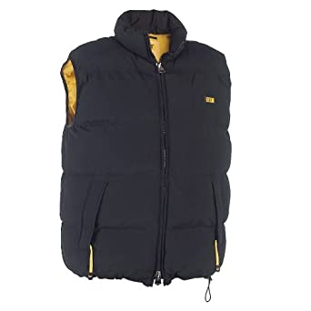Mens Caterpillar C430 Quilted Insulated Vest Jacket - Black - Large