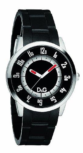 D&G Dolce&Gabbana DW0626 - Reloj unisex con correa de caucho, color negro