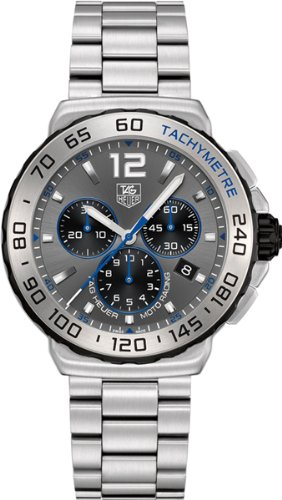 Tag Heuer Formula 1 Chronograph Grey Dial Stainless Steel Mens Watch CAU1119BA0858
