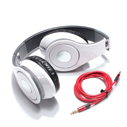 3.5Mm Foldable Beats Stereo Headset Headphone For Laptop Desktop Pc Mp3/4 Iphone
