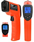 TopG TG8380H -58 °F to +716°F Temperature Gun Non-contact Infrared Thermometer w/ Laser Sight Consistent Instant Temps for Industrial, Electrical, Auto, AC, Energy Audits - Handy and Reliable for Cooking - Grill, Fryer, Oven, Wood Stove. U.S. FDA/FCC/CE/ROHS Approved