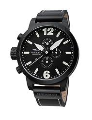 Haemmer Men's HC-16 Giants Black PVD Chrono Leather Watch