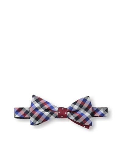 Ben Sherman Men's Reversible Pre-Tie Gingham Dot Bow Tie, Red
