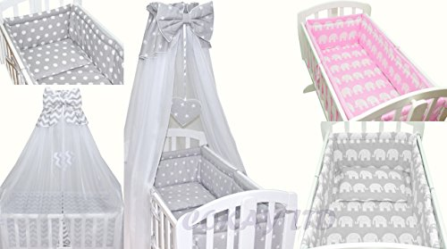 10-pcs-Crib-Bedding-Set-Bumper-ALL-ROUND-sheetduvetCANOPY-Free-Standing-Canopy-Holder