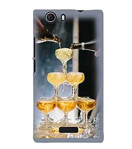 Printvisa Premium Back Cover Wine Glasses Pyramid Design For Micromax Canvas Nitro 2 E311::Micromax Canvas Nitro 2 (2nd Gen)