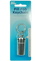 Apothecary Waterproof Airtight Pill Fob- Silver Color