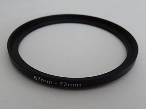 vhbw Step UP Filter-Adapter 67mm-72mm schwarz für Kamera Panasonic, Pentax, Ricoh, Samsung, Sigma, Sony, Tamron
