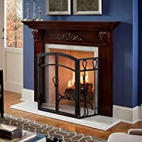 Chamberlain 72 Inch Wood Fireplace Mante...