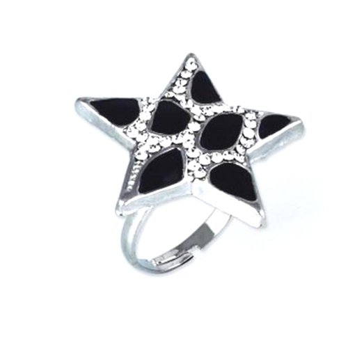 Styonal Styonal Chunky-Funky Silver Star Adjustable Fashion Ring For Women