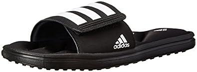 adidas Performance Men's Zeitfrei FF Slide Sandal, Core Black/White/Black, 6 M US