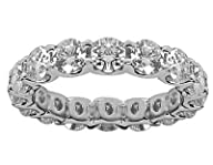 2.50 Ct Round Cut Diamond Eternity Wedding Band. Comfort Fit Ring in 14 kt White Gold