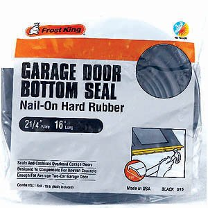 buy frost king g16 nailon rubber garage door bottom seal 214inch by 16foot black now