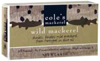 Cole's Mackerel In Olive Oil, 4.4-Ounce (Pack of 5) by Cole's