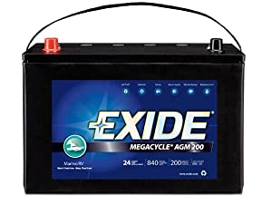 Exide MC-31 MEGACYCLE AGM-200 Sealed Maintenance Free (AGM) Marine Battery