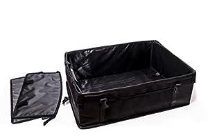 Car Trunk Organizer - Folding Cargo Trunk Organizer - Car Storage Chest - Holds Vehicle Safety Items, Car Cleaning Kit & More - Convenient Trunk Grocery Organizer or Garage Organizer