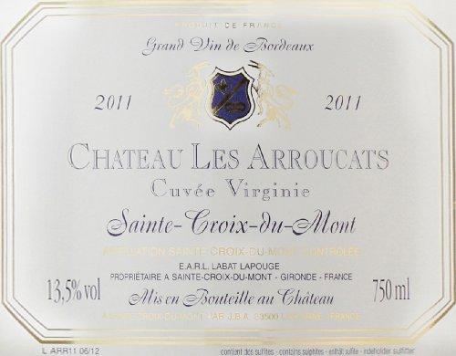 """2011 Château Les Arroucats """"Cuvee Virgine,"""" Sainte-Croix-Du-Mont 750 Ml"""