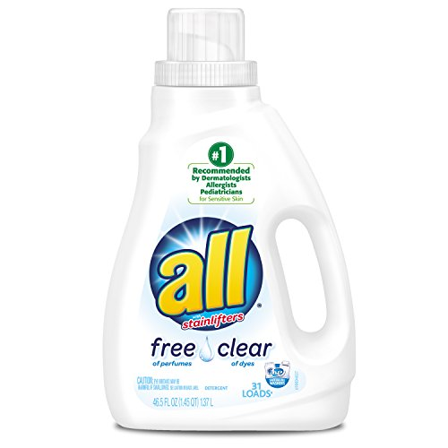 All Liquid Laundry Detergent, Free Clear, 46.5 Ounce (Pack of 2) (Clothes Washer Detergent compare prices)
