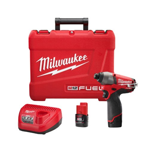 Milwaukee 2453-22 M12 Fuel 1/4 Hex Impact Driver with 2 Batteries (Milwaukee Fuel 12 Volt compare prices)