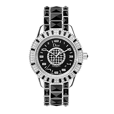 Christian Dior Women's CD115511M001 Christal Black Diamond Dial Watch