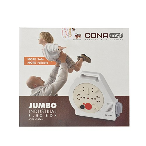 30% Off Cona Smyle FB2796 Jumbo Industrial Flex Box Extension Cord with 4meter wire