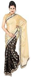 Kasturi Sarees Basement Women's Chiffon Saree (Multi-Coloured)