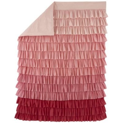 Girl Bedding: Full/Queen Fade To Pink Duvet Cover front-248827