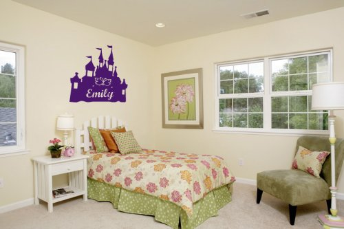 Personalized Princess Castle - Vinyl Wall Art Decal Stickers Decor Graphics front-665065