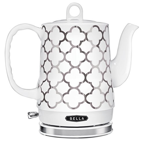 Buy BELLA 14522 Electric Ceramic Kettle, White and Silver