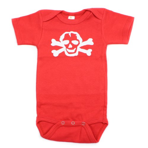 Crazy Baby Clothing White Scribble Skull Short Sleeve Baby Bodysuit