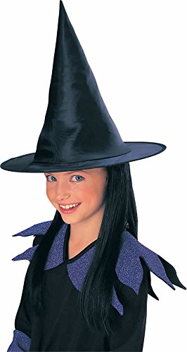 Rubies Child's Witch Hat with Black Hair - 1