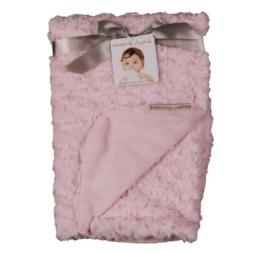 Blankets and Beyond Rosette Blanket Pink