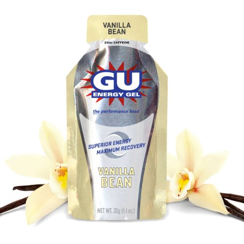 GU Original Sports Nutrition Energy Gel, Vanilla Bean, 24-Count