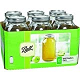 Half Gallon Wide Mouth Canning Jars (6 Count)