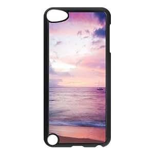Amazon.com : Ipod Touch 5 Cases Dreamy Sea Boat Beach for ...