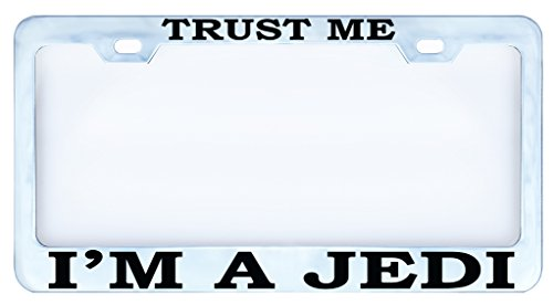 Trust Me I'm a Jedi License Plate Frame Tag Vinyl Weatherproof (Bmw M Sport License Plate Frame compare prices)