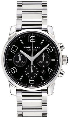 Montblanc Timewalker Stainless Steel Mens Watch 9668