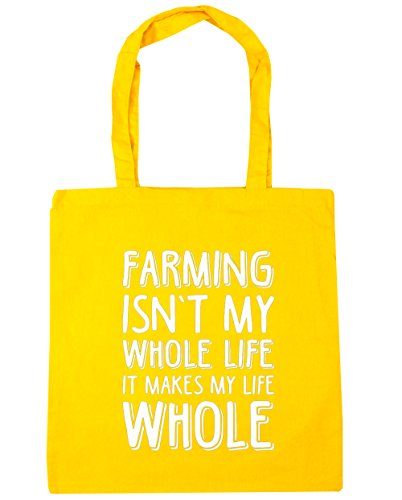 hippowarehouse-farming-isnt-my-whole-life-it-makes-my-life-whole-tote-shopping-gym-beach-bag-42cm-x3