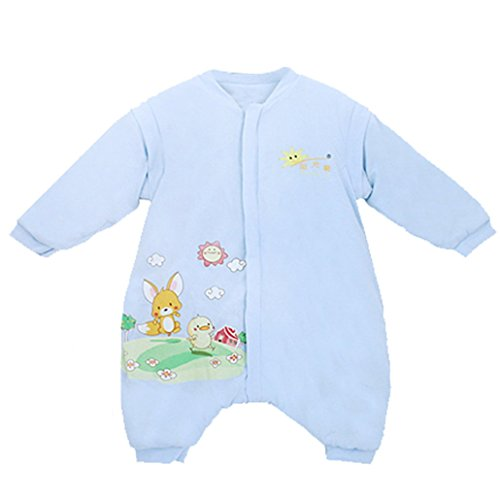 Dehang Baby Newborn Sleepsack Sleeping Bag Separate Leg Wearable Blanket Size L - Blue