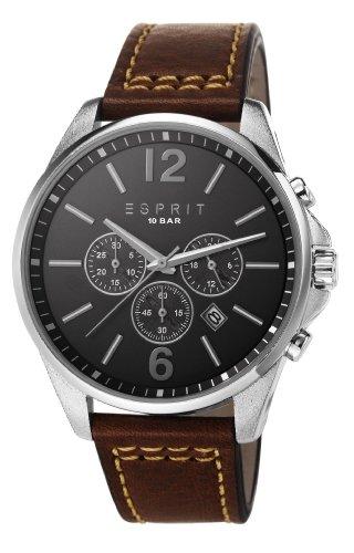Esprit  ES106921001 - Reloj de cuarzo para hombre, con correa de cuero, color marrón