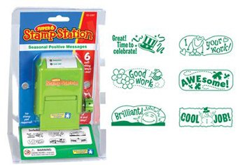 5 Pack EDUCATIONAL INSIGHTS SUPER 6 STAMP STATION POSITIVE