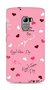Amez designer printed 3d premium high quality back case cover for Lenovo K4 Note (Valentines Day special 2)