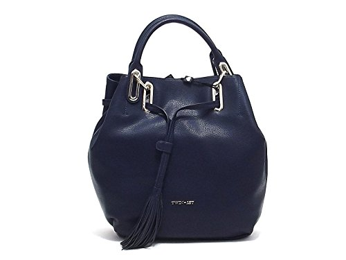 Twin Set borsa donna, linea Borsa Occhielli AS67FN, borsa a spalla in ecopelle, colore blu