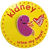 Kidney Lapel Pin Urine My Heart! I Heart Guts