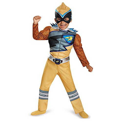 [Disguise Gold Ranger Dino Charge Toddler Muscle Costume, Medium (3T-4T)] (Halloween Costumes Gallery)