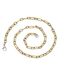 The Jewelbox Two Tone Gold And Silver Plating Chain For Men
