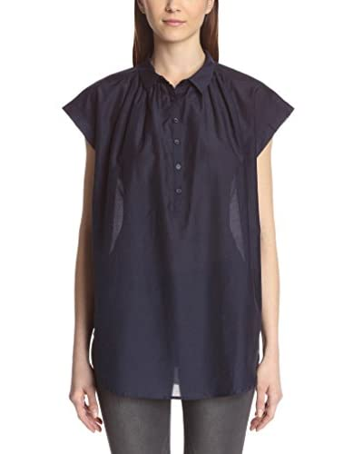 Acrobat Women's Cap Sleeve Button-Up Blouse