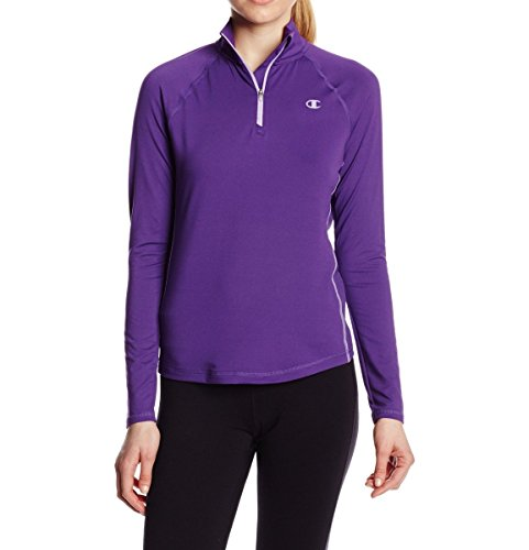 Champion Women'S Absolute Quarter Zip, Electric Purple/Purple Mist, Small
