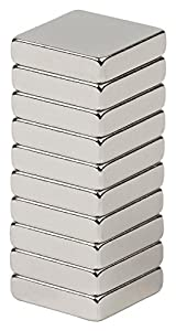 BYKES 10 Neodymium Super Strong Extremly Powerful Rare Earth Refrigerator Magnets 1 2 x 1... by BYKES Technologies�