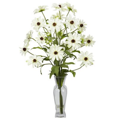 Nearly Natural Cosmos w/Vase Silk Flower Arrangement