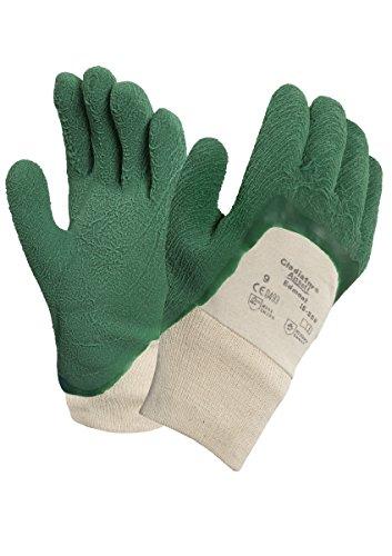 Ansell Gladiator 16-500 Guanti per usi multipli, protezione meccanico, colore: verde (Confezione da 12 paia), 10, verde, 12